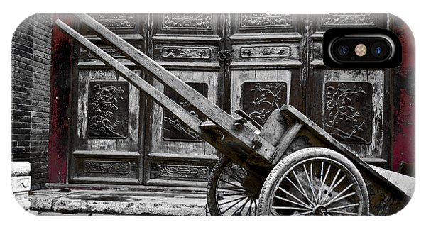 Chinese Wagon In Black And White Xi'an China IPhone Case