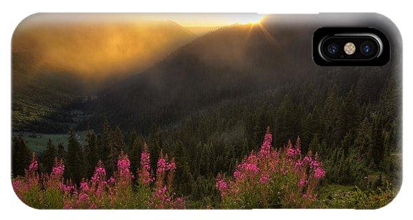 Chinook Pass Sunrise II IPhone Case
