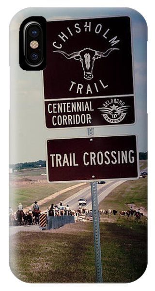Chisholm Trail Centennial Cattle Drive IPhone Case