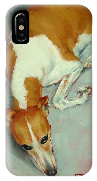 Chloe The Whippet IPhone Case
