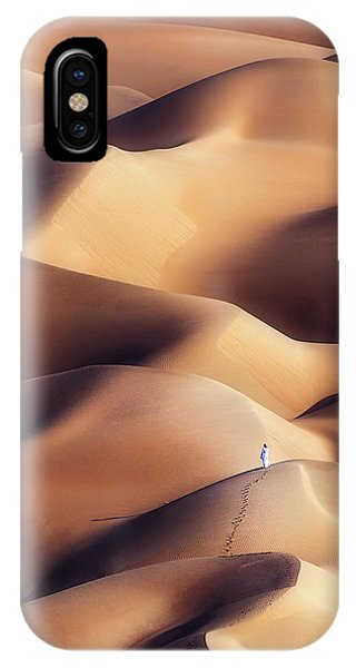 Track iPhone Case - Chocolate Dunes by Khalid Al Hammadi