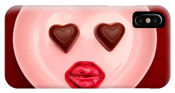 Chocolate Heart Face IPhone Case