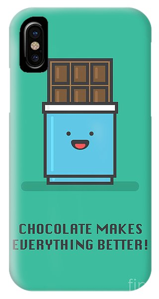 Vector iPhone Case - Chocolate Makes Everything Better Line by Orange Vectors