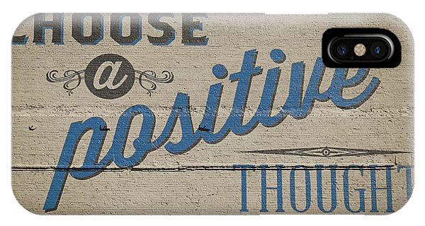 Texture iPhone Case - Choose A Positive Thought by Scott Norris