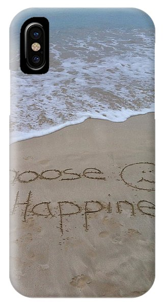 Choose Happiness IPhone Case