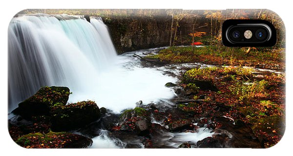 Choushi - Ootaki Waterfall In Autumn IPhone Case