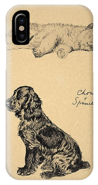 Chow And Spaniel, 1930, Illustrations IPhone Case