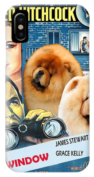 Chow Chow Art Canvas Print - Rear Window Movie Poster IPhone Case