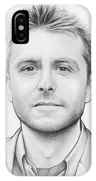 Illustration iPhone Case - Chris Hardwick by Olga Shvartsur