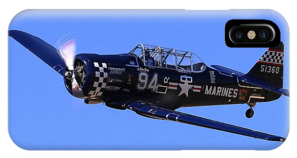Chris Lefave In His North American Snj-4 Midnight Express At Reno Air Races  Phone Case by John King