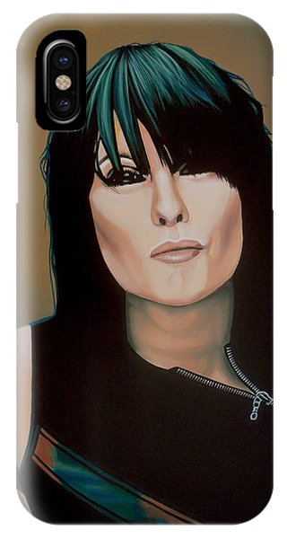 Elegant iPhone Case - Chrissie Hynde Painting by Paul Meijering