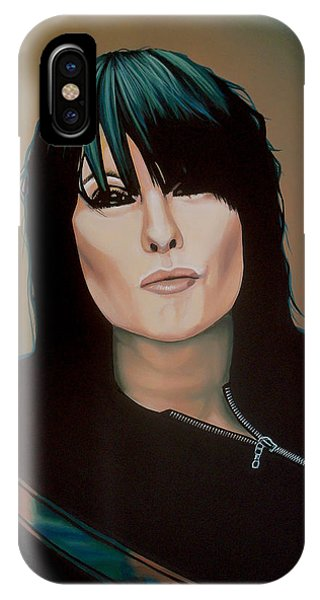 Popstar iPhone Case - Chrissie Hynde Painting by Paul Meijering