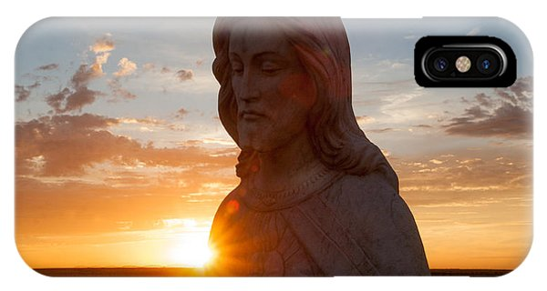 Christ And Sun IPhone Case