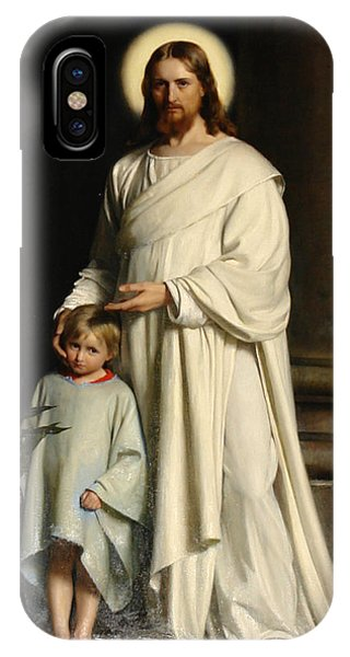 Christ And The Child IPhone Case