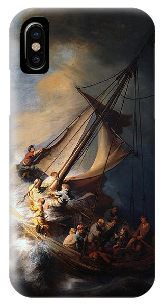 Christ And The Storm IPhone Case