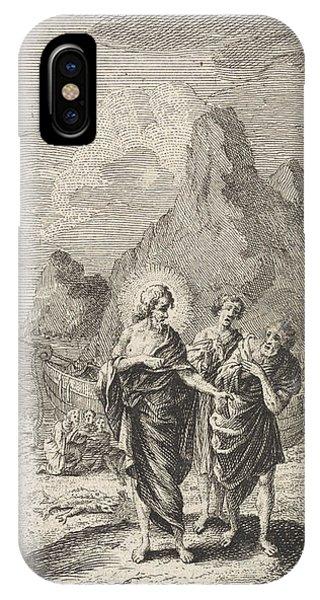 Christ Appears At The Sea Of Galilee, Jan Luyken IPhone Case