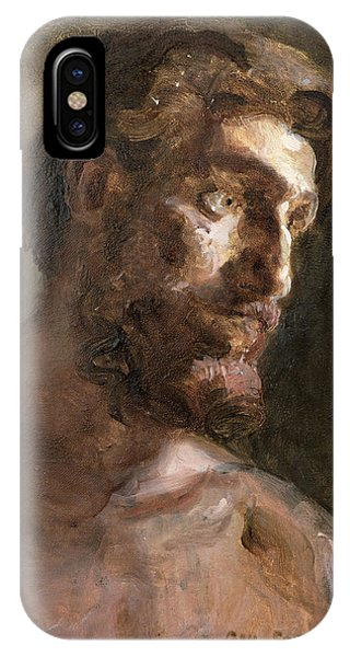 Deep Thought iPhone Case - Christ by Gail Schulman