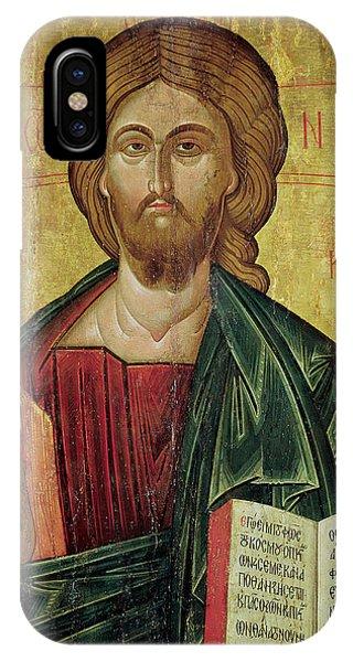 Messiah iPhone Case - Christ Pantocrator by Bulgarian School