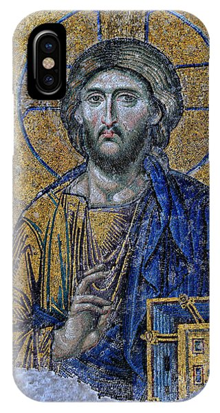 Spirituality iPhone Case - Christ Pantocrator -- Hagia Sophia by Stephen Stookey