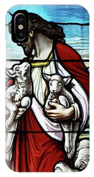 New Testament iPhone Case - Christ The Good Shepherd With His Flock by Vintage Images