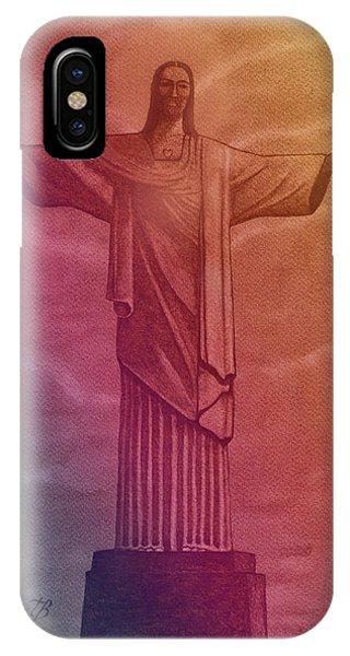 Christ The Redeemer Under The Rainbow IPhone Case