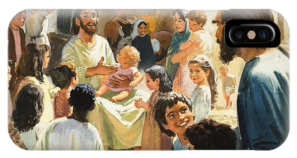 Messiah iPhone Case - Christ With Children by Peter Seabright