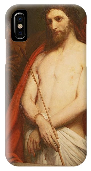 New Testament iPhone Case - Christ With The Reed Oil On Canvas by Ary Scheffer