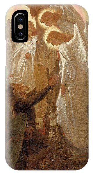 Messiah iPhone Case - Christian At The Foot Of The Cross by Sir Joseph Noel Paton