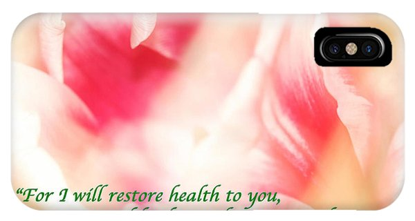 I Will Restore Health To You  IPhone Case