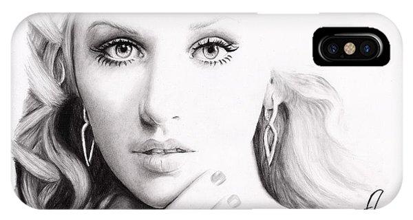 Christina Aguilera 2 Phone Case by Rosalinda Markle