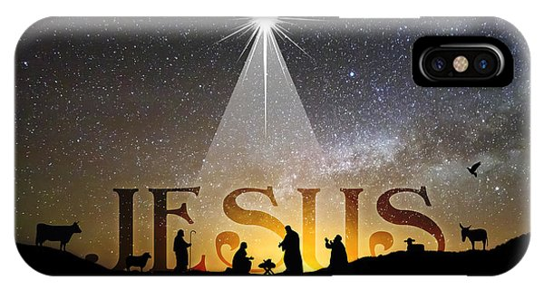 Jesus Our Hope Savior And King IPhone Case