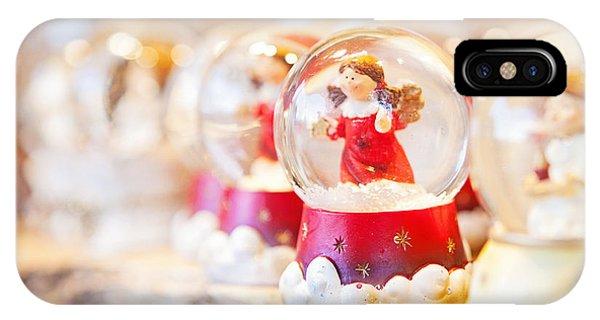 Christmas Angel Snow Globe  IPhone Case