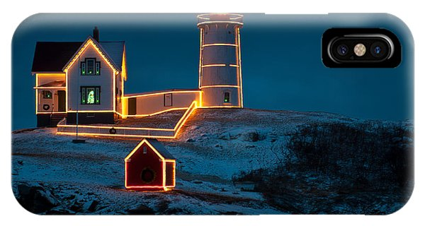 Christmas At Nubble Light IPhone Case