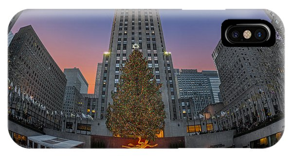 Christmas At Rockefeller Center In Nyc IPhone Case