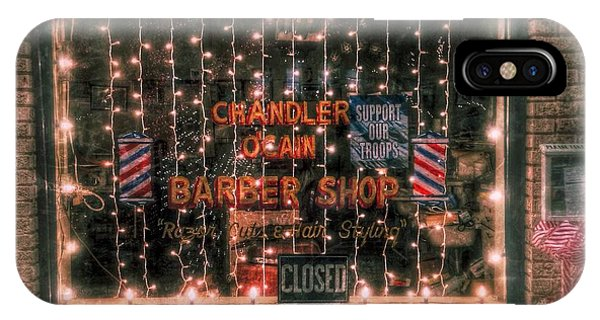 Christmas At The Barbershop In Canton Mississippi IPhone Case