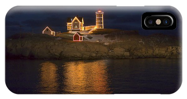 Christmas At The Nubble IPhone Case