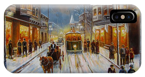 Christmas Atmosphere In A Small Town America In 1900 IPhone Case