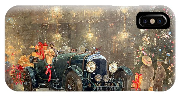 Car iPhone X Case - Christmas Bentley by Peter Miller