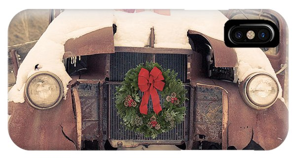 New Hampshire iPhone Case - Christmas Car Card by Edward Fielding