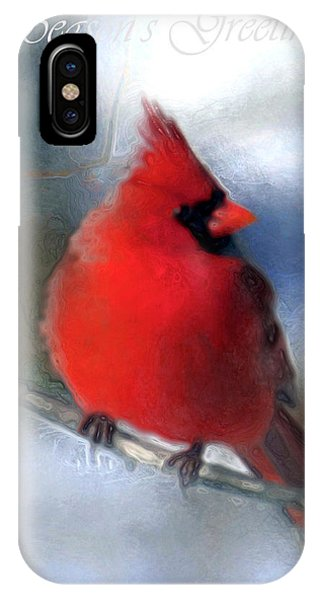 Christmas Card - Cardinal IPhone Case