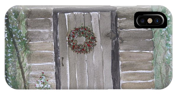 Christmas Card No.3 Rustic Cabin IPhone Case