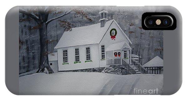Christmas Card - Snow - Gates Chapel IPhone Case