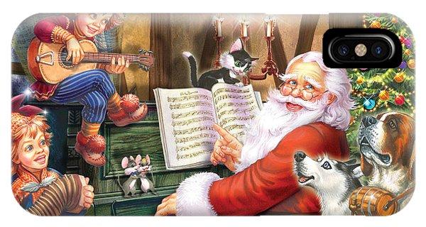 Winter Fun iPhone Case - Christmas Carols by MGL Meiklejohn Graphics Licensing