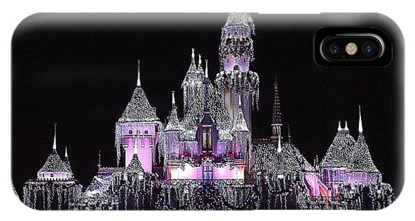 Christmas Castle Night IPhone Case