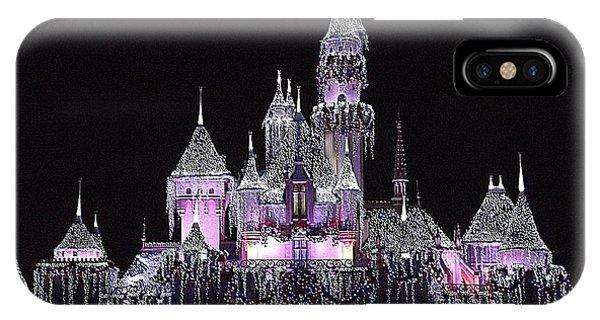 Christmas Castle Night IPhone Case