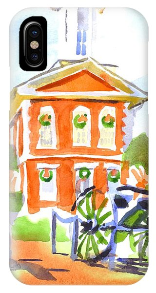 Courthouse iPhone Case - Christmas Courthouse II by Kip DeVore