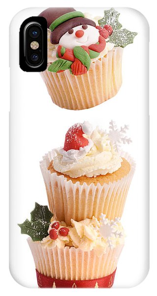 Icing iPhone Case - Christmas Cupcake Tower by Amanda Elwell