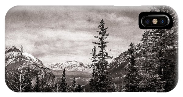 Christmas Day In Banff Bw IPhone Case