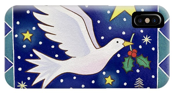 Christmas iPhone Case - Christmas Dove  by Cathy Baxter