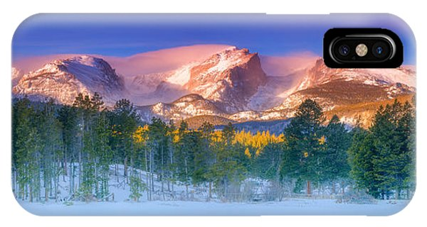 Rocky Mountain iPhone Case - Christmas Eve At Sprague Lake by Darren  White